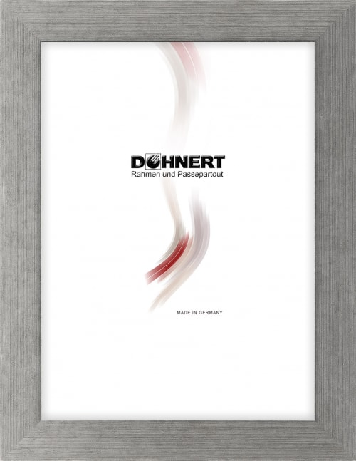 Sonderanfertigung MDF-Rahmen 20064, schwarz-silber, matt