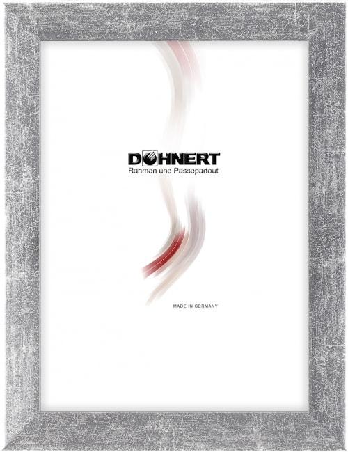 Sonderanfertigung MDF-Rahmen 20062, schwarz-hellsilber